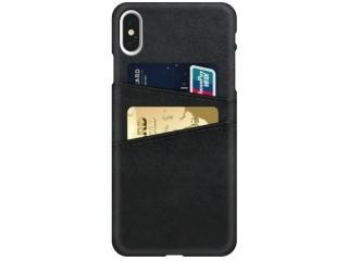 iPhone Xs / X Leder Case Hülle für Bank und Kreditkarten Etui schwarz