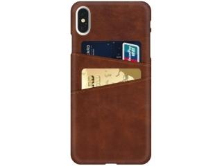 iPhone Xs / X Leder Case Hülle für Bank und Kreditkarten Etui braun