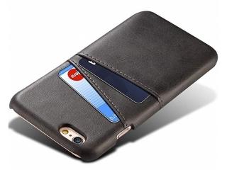 iPhone 6 / 6S Leder Case Hülle für Bank und Kreditkarten Etui schwarz