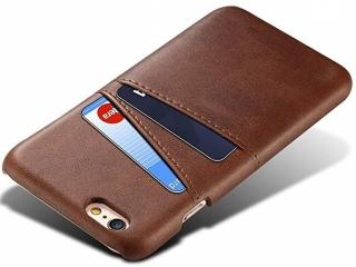 iPhone 6 / 6S Leder Case Hülle für Bank und Kreditkarten Etui braun