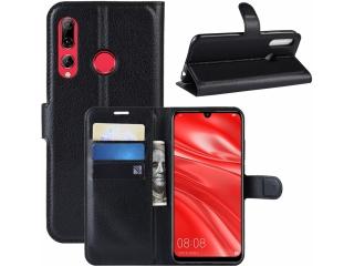 Huawei P Smart+ 2019 Lederhülle Portemonnaie Karten Tasche schwarz