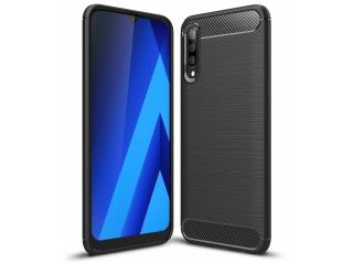 Samsung Galaxy A70 TPU Carbon Flex Gummi Hülle Thin Softcase - schwarz