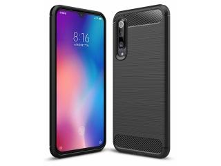Xiaomi Mi 9 SE TPU Carbon Flex Gummi Hülle Thin Softcase - schwarz