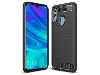 Huawei P Smart 2019 TPU Carbon Flex Gummi Hülle Thin Softcase schwarz