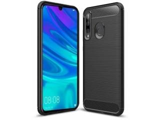 Huawei P Smart+ 2019 TPU Carbon Flex Gummi Hülle Thin Softcase schwarz