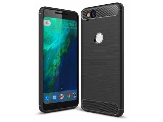 Google Pixel 2 TPU Carbon Flex Gummi Hülle Thin Softcase - schwarz