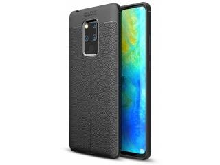 Huawei Mate 20 X Leder Design Gummi Hülle TPU Case Cover schwarz