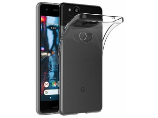 Google Pixel 2 Gummi Hülle TPU flexibel dünn transparent thin clear