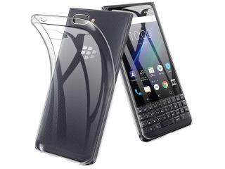 Blackberry Key2 LE Gummi Hülle TPU flexibel dünn transparent clear