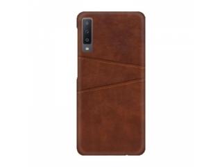 Samsung Galaxy A50 Leder Case Hülle für Bank Kreditkarten braun