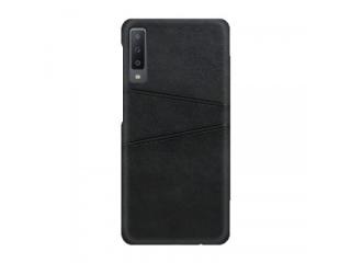 Samsung Galaxy A50 Leder Case Hülle für Bank Kreditkarten schwarz