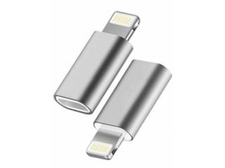 USB C auf Lightning Mini Adapter Konverter in silber