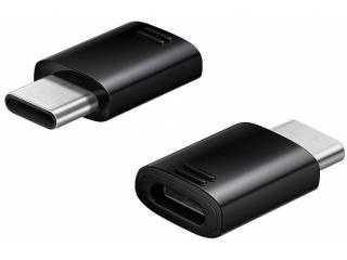 Samsung USB C auf Micro USB Adapter Konverter Stecker in schwarz