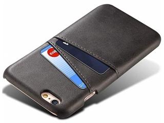 iPhone 5 / 5S / SE Leder Case Hülle für Bank Kreditkarten Etui schwarz