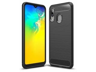 Samsung Galaxy A20e Carbon TPU Flex Gummi Hülle Thin Soft Case schwarz
