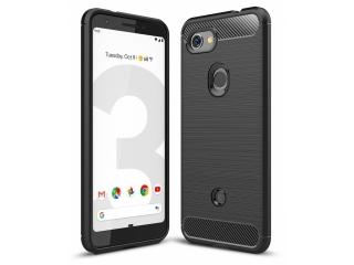 Google Pixel 3a Carbon Gummi Hülle TPU Case Cover flexibel schwarz