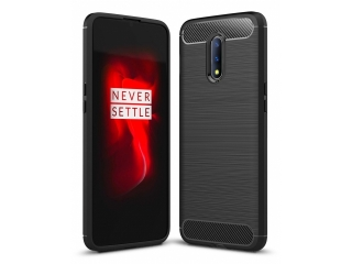 OnePlus 7 Carbon TPU Gummi Hülle Case Cover flexibel schwarz