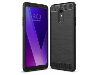 LG Q Stylus Carbon Gummi Hülle TPU Case Cover flexibel schwarz
