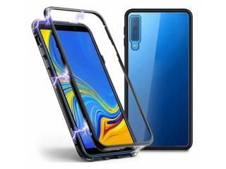 Samsung Galaxy A7 Magnetische Alu Hülle Panzerglas Vorne & Hinten
