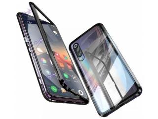 Xiaomi Mi 9 SE Magnetische Alu Hülle Panzerglas Vorne & Hinten schwarz