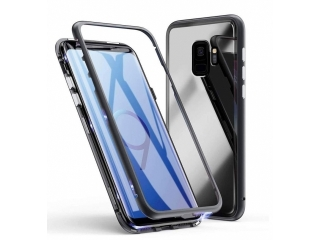 Samsung Galaxy S9+ Magnetische Alu Hülle Panzerglas Vorne & Hinten