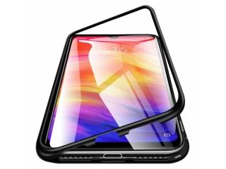 Xiaomi Redmi Note 7 Magnetische Alu Hülle Panzerglas Vorne & Hinten