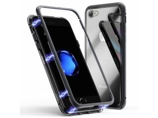iPhone 7 Magnetische Alu Hülle Panzerglas Vorne & Hinten schwarz