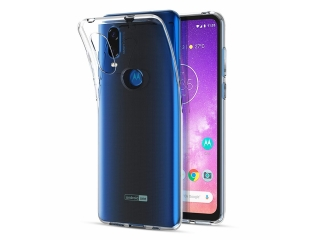 Moto One Vision Gummi TPU Hülle flexibel dünn transparent thin clear