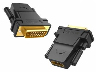 HDMI / DVI Adapter - 1x HDMI-Buchse - 1x DVI-Stecker 24+1 pol. schwarz