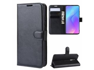 Xiaomi Mi 9T Ledertasche Portemonnaie Karten Etui Hülle schwarz