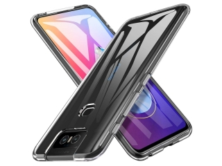 Asus ZenFone 6 Gummi TPU Hülle flexibel dünn transparent thin clear
