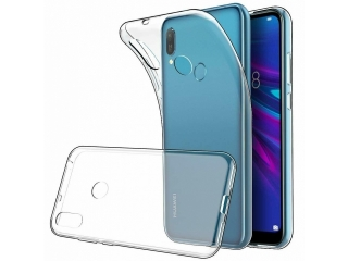 Huawei Y6 2019 Gummi TPU Hülle flexibel dünn transparent thin clear
