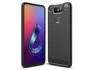 Asus ZenFone 6 Carbon Gummi Hülle TPU Case Cover flexibel schwarz