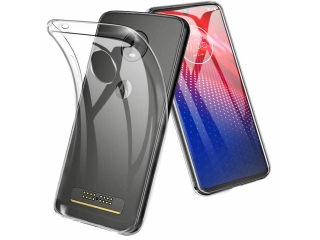 Moto Z4 Gummi TPU Hülle flexibel dünn transparent thin clear