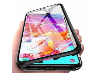 Samsung Galaxy A40 Magnetische Alu Hülle Panzerglas Vorne & Hinten