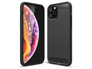 iPhone 11 Pro Carbon Gummi Hülle TPU Thin Case Cover flexibel schwarz