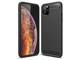 iPhone 11 Pro Max Carbon Gummi Hülle TPU Thin Case flexibel schwarz