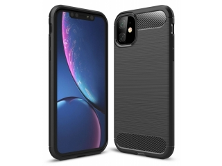 iPhone 11 Carbon Gummi Hülle TPU Thin Case Cover flexibel schwarz