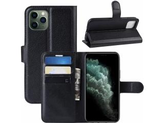 iPhone 11 Pro Max Leder Hülle Portemonnaie Karten Ledertasche schwarz
