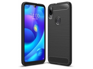 Xiaomi Mi Play Carbon Gummi Hülle TPU Thin Case Cover flexibel schwarz