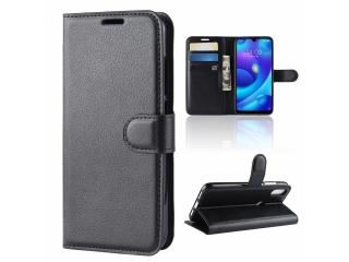 Xiaomi Mi Play Leder Hülle Portemonnaie Karten Ledertasche schwarz