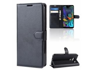 LG K50 Leder Hülle Portemonnaie Karten Ledertasche schwarz