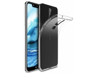 Nokia 5.1 Plus Gummi Hülle Thin Clear TPU Case transparent dünn