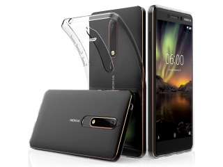 Nokia 6.1 Gummi Hülle Thin Clear TPU Case transparent dünn