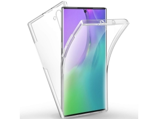 360 Grad Samsung Note 10 Touch Case Transparent TPU Rundumschutz