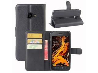 Samsung Galaxy XCover 4S Leder Hülle Portemonnaie Karten Ledertasche