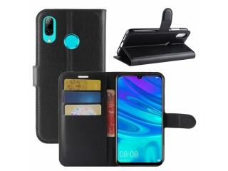 Huawei Y7 2019 Leder Hülle Portemonnaie Karten Ledertasche schwarz