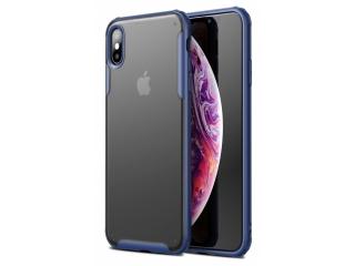 No-Scratch Anti-Impact iPhone XS Hülle 2m Fallschutz blau matt