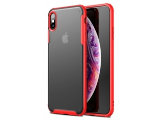 No-Scratch Anti-Impact iPhone XS Hülle 2m Fallschutz rot matt