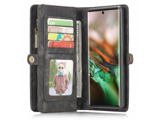 CaseMe Samsung Galaxy Note 10+ Echtleder Hülle Karten Etui - schwarz